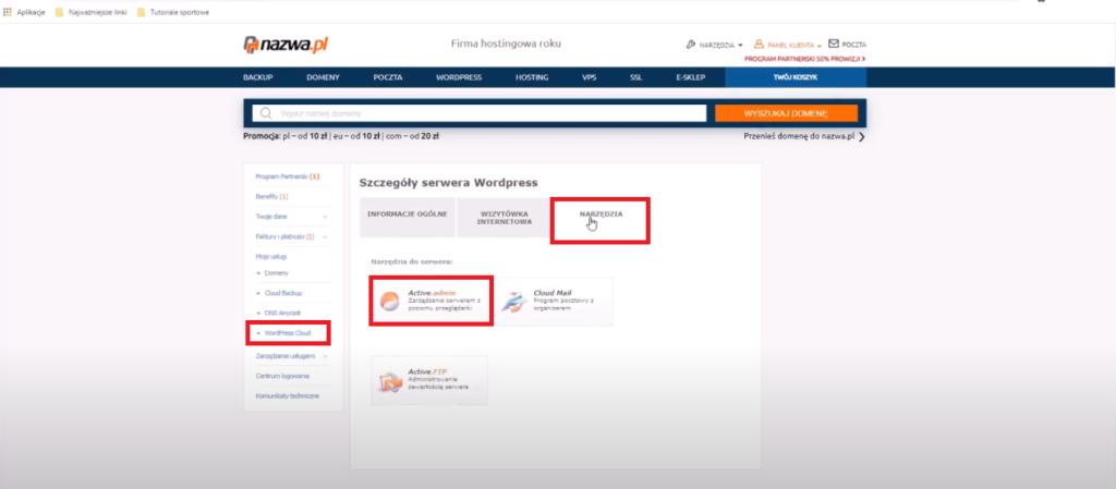 Jak przekierować domenę na hosting WordPress Cloud w nazwa.pl 3 Ola Dąbrowa