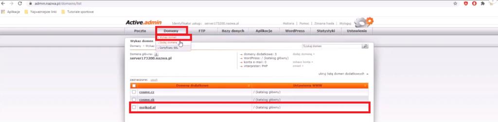 Jak przekierować domenę na hosting WordPress Cloud w nazwa.pl 4 Ola Dąbrowa